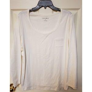 EUC 1X Fashion Bug Cream Long Sleeved Shirt